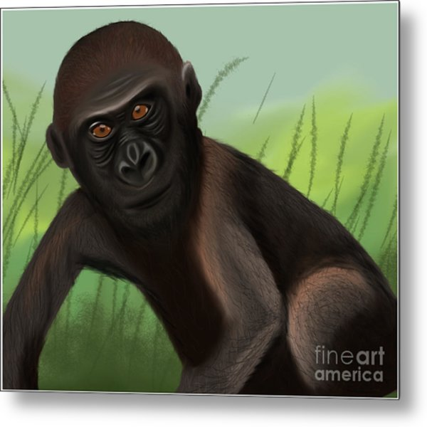 Gorilla Greatness Metal Print