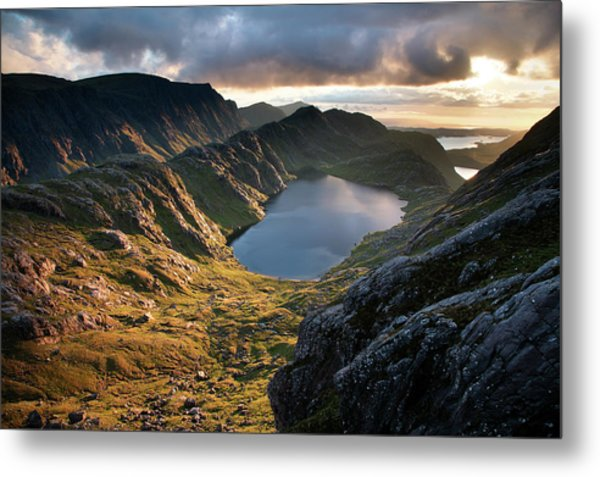 Gorm Loch Mor And Fionn Loch Beyond Metal Print by Feargus Cooney