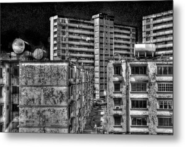Gotham City Panama Style Metal Print