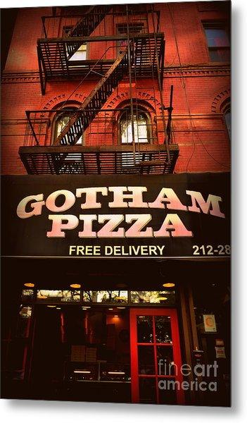 Gotham Pizza Metal Print