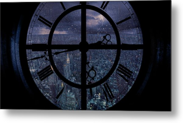 Gotham Viewed From Above Metal Print by Jackson Carvalho