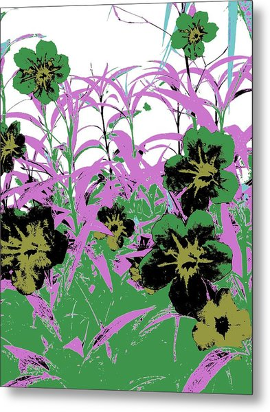 Metal Print featuring the photograph Gothic Garden Green by David Clark