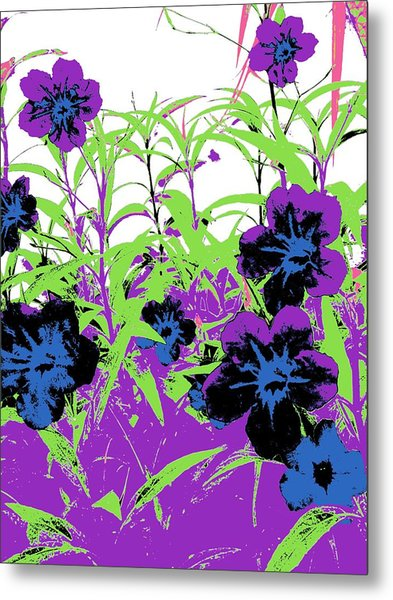 Metal Print featuring the digital art Gothic Garden Orchid by David Clark