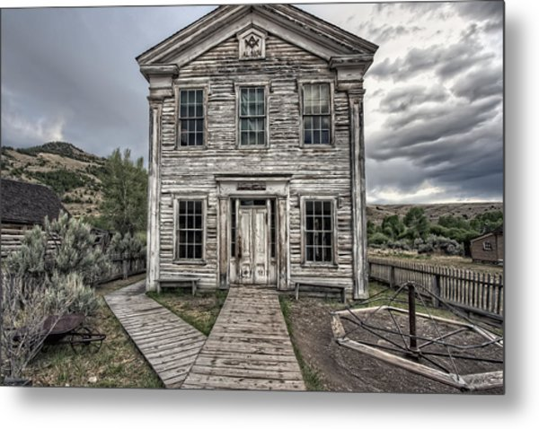 Gothic Lodge And School  - Bannack Montana Ghost Town Metal Print