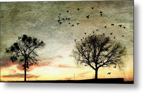Gothic Sundown - No.1958 Metal Print