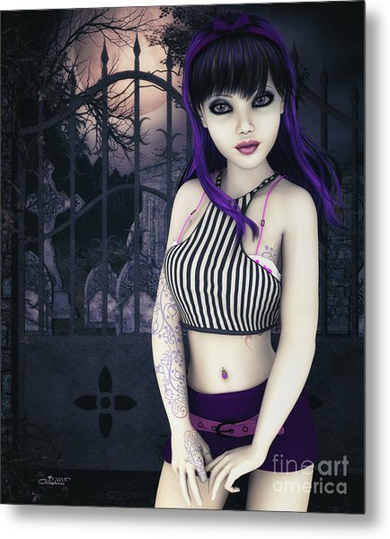 Gothic Temptation Metal Print