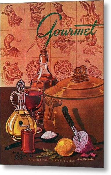 Gourmet Cover Featuring A Casserole Pot Metal Print