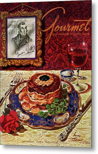 Gourmet Cover Featuring A Plate Of Tournedos Metal Print