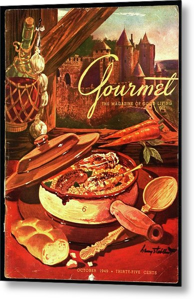 Gourmet Cover Featuring A Pot Of Stew Metal Print