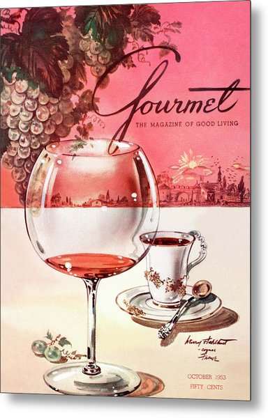 Gourmet Cover Illustration Of A Baccarat Balloon Metal Print