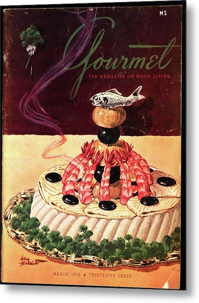 Gourmet Cover Illustration Of A Filet Of Sole Metal Print