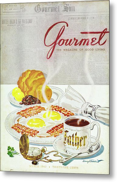 Gourmet Cover Of Breakfast Metal Print