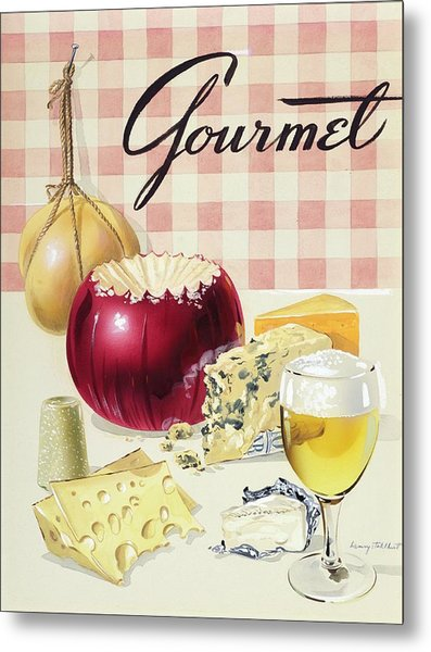 Gourmet Cover Of Cheeses Metal Print