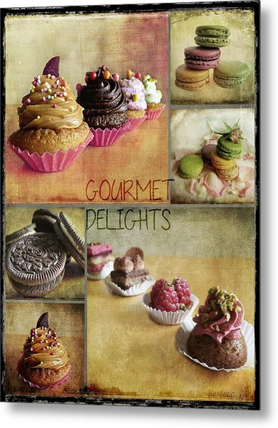Gourmet Delights - Collage Metal Print