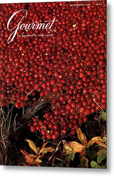 Gourmet Magazine Cover Featuring Cranberries Metal Print by Lans Christensen