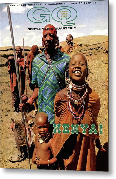 Gq Cover Featuring A Group Of Massai People Metal Print