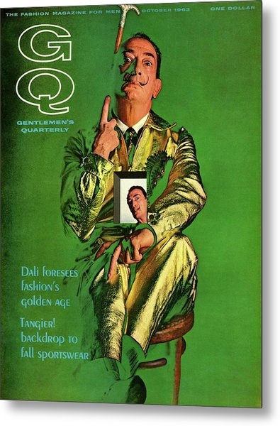 Gq Cover Featuring Salvador Dali Metal Print by Chadwick Hall