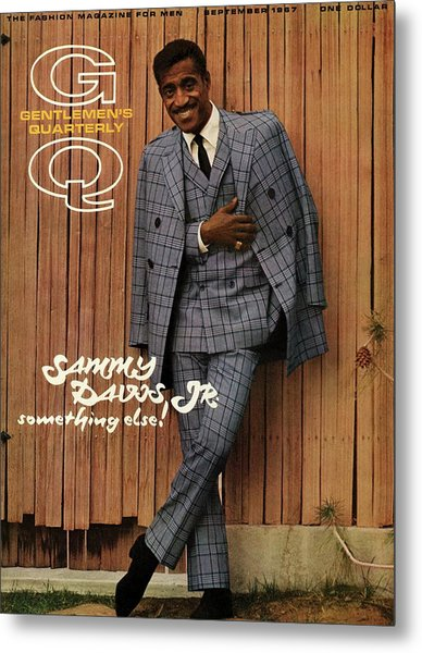 Gq Cover Featuring Sammy Davis Jr Metal Print by Milton Greene