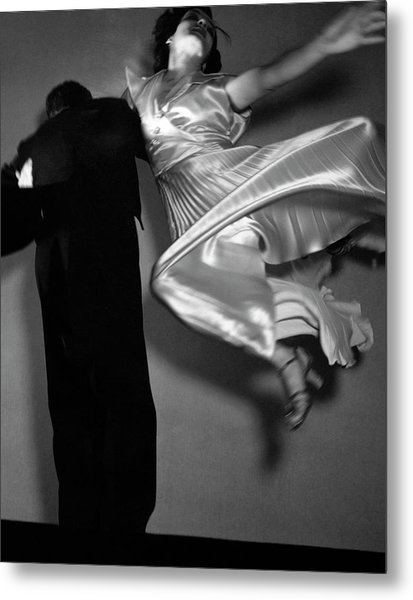 Grace And Paul Hartman Dancing Metal Print by Edward Steichen