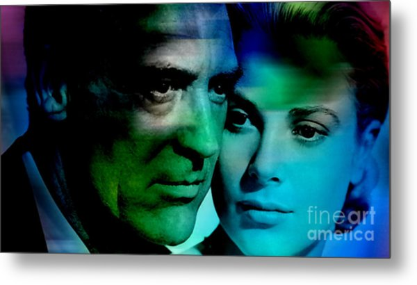 Grace Kelly And Cary Grant Metal Print
