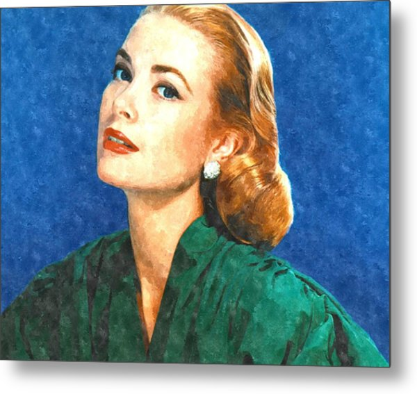 Grace Kelly Painting Metal Print