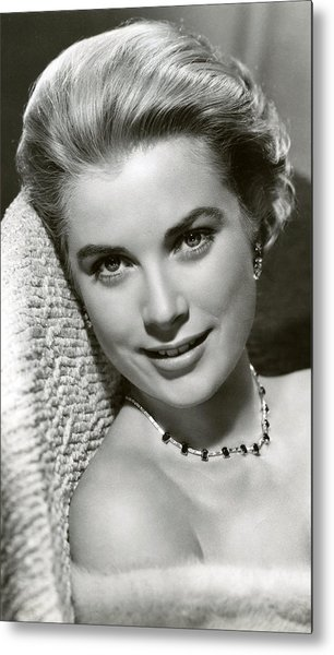 Grace Kelly Smiles Metal Print