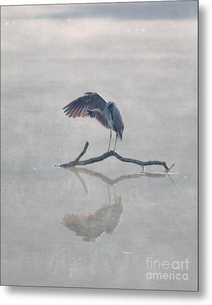 Graceful Heron Metal Print