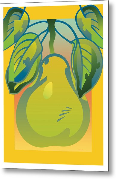 Gradient Pear Metal Print