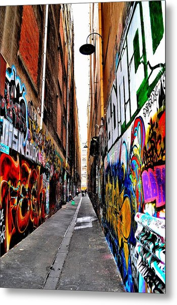 Graffiti Alley - Melbourne - Australia Metal Print