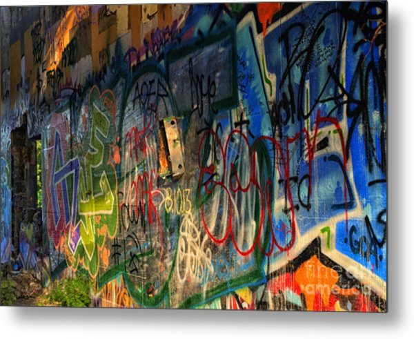 Graffiti Blues Metal Print
