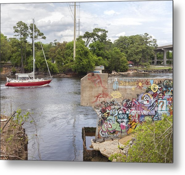 Graffiti Bridge Image Art Metal Print