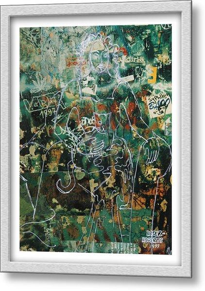 Graffiti Cat Metal Print by Eve Riser Roberts