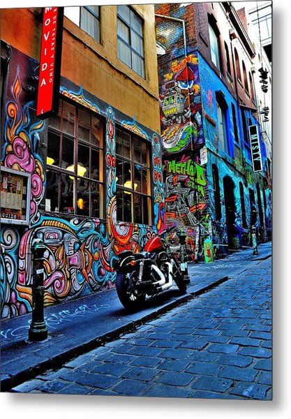 Graffiti Harley Shoes - Melbourne - Australia Metal Print