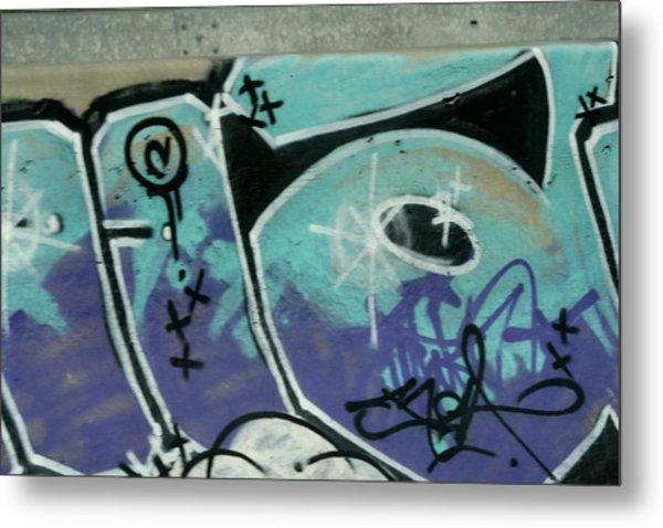 Graffiti South France Metal Print by Phoenix De Vries