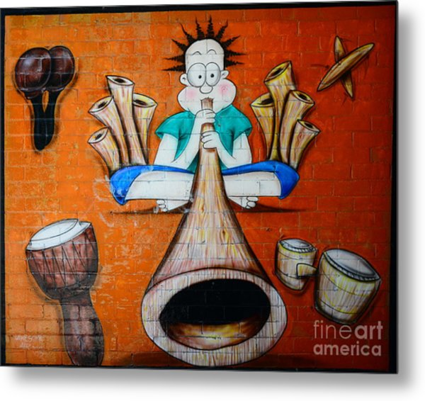 Graffiti Wall Metal Print by Bobby Mandal