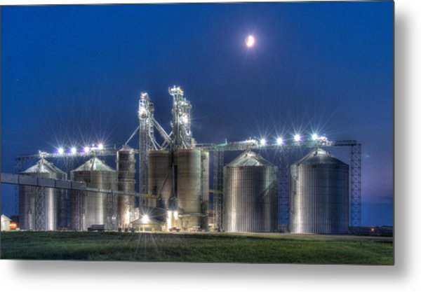 Grain Processing Plant Metal Print