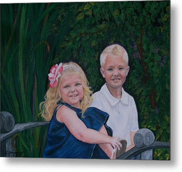 Grampa And Gramma's Joy  Metal Print