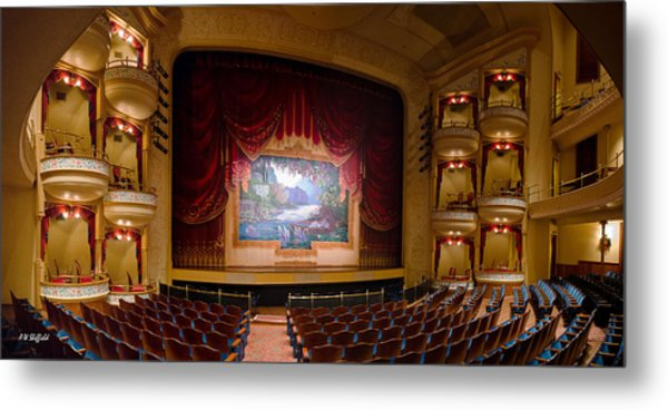 Grand 1894 Opera House - Orchestra Seating Metal Print