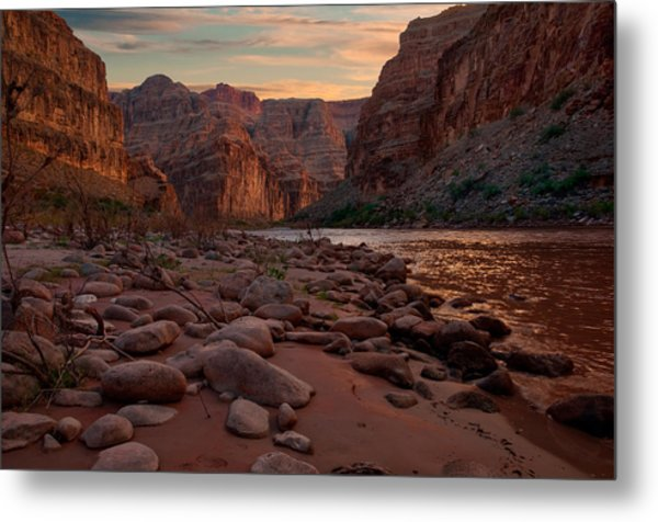 Grand Canyon Bottom Metal Print