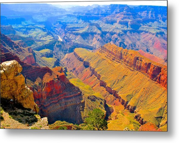 Grand Canyon In Vivid Color Metal Print