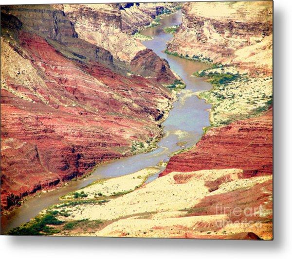 Grand Canyon River View Metal Print by John Potts