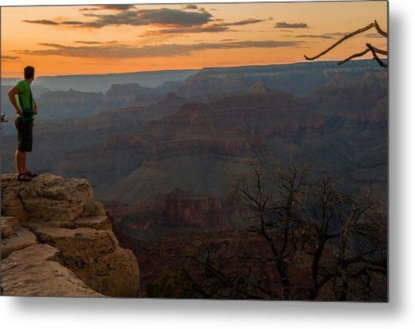 Grand Canyon Sunset Wim Metal Print