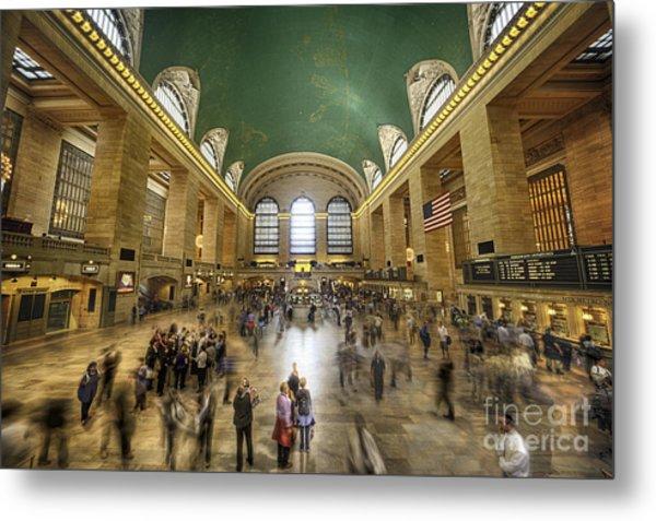 Grand Central Rush Metal Print