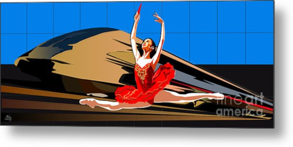 Grand Ecart Metal Print by Roby Marelly