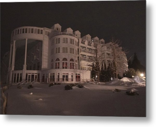 Grand Hotel On A Winter Night Metal Print