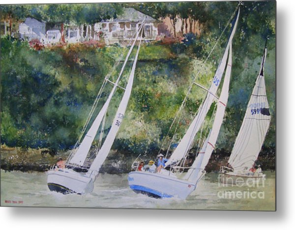 Grand Lake Regatta Metal Print