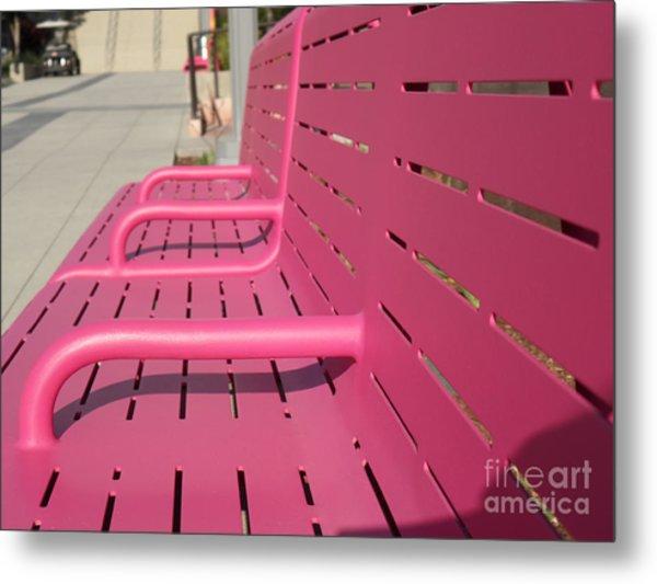 Grand Park Pink Metal Print