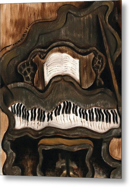 Tommervik Abstract Grand Piano Art Print Metal Print by Tommervik