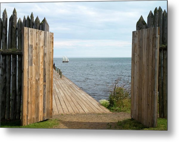 Grand Portage Footpath With A Replica Metal Print