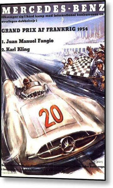 Grand Prix F1 Reims France 1954  Metal Print